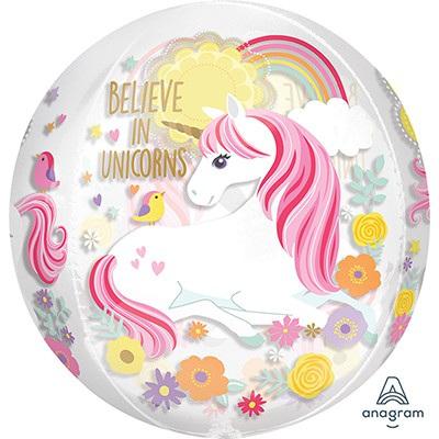 Magical unicorn orbz shape balloon
