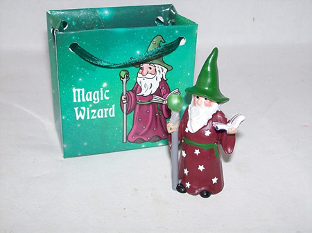 Magical Wizard In Green Bag
