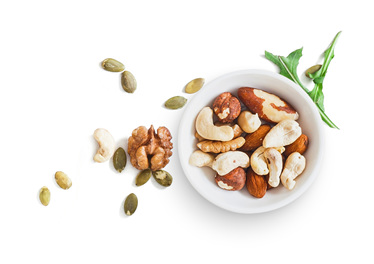 Magnesium Bowl of Nuts Spilled on Table