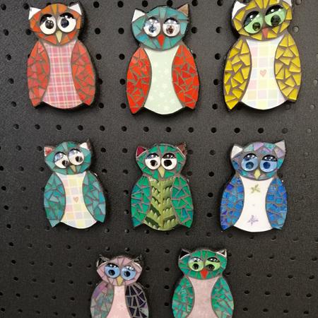 Magnetic Mosaic Owls