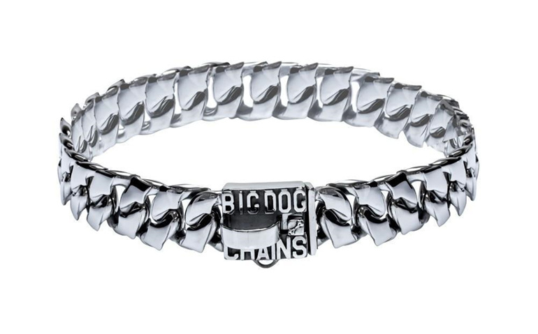 Magnum Unique Stainless Steel Dog Collar by Big Dog Chains