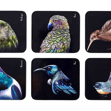 Majestic Birds 6pk Coasters