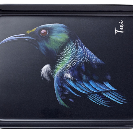 Majestic Birds Tui Scatter Tray