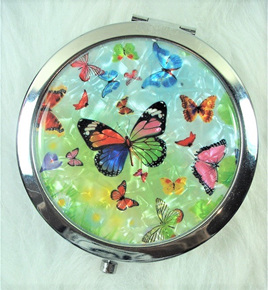 Make-Up Mirror: Butterflies