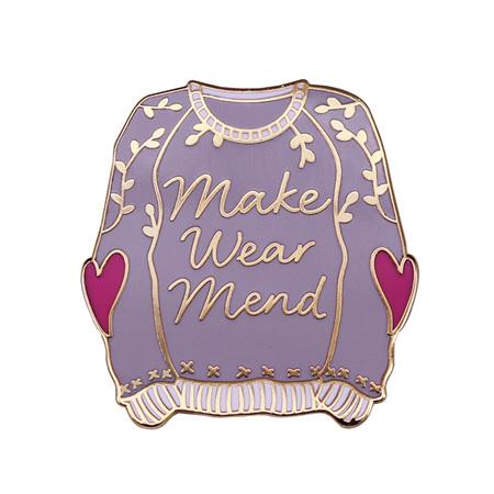 Make Wear Mend Jersey Enamel Pin