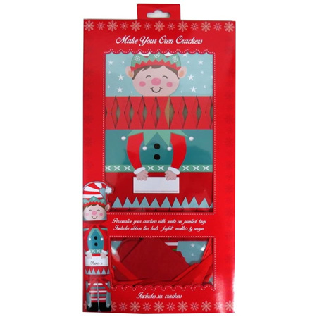 Make your own crackers x 6 ..  elf design