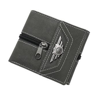Males Black Wallet Zip on outside