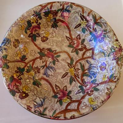 Chintz pattern bowl