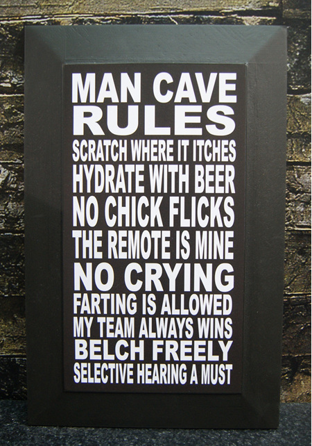 Man Cave Rules Block