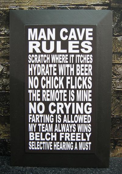 Man Cave Rules Block