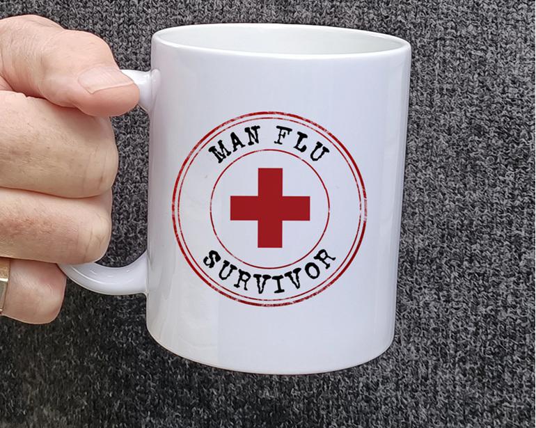 Man Flu Survivor Funny Mug