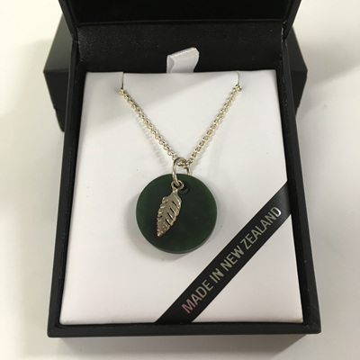 Mana NZ Greenstone with Sterling Silver Fern