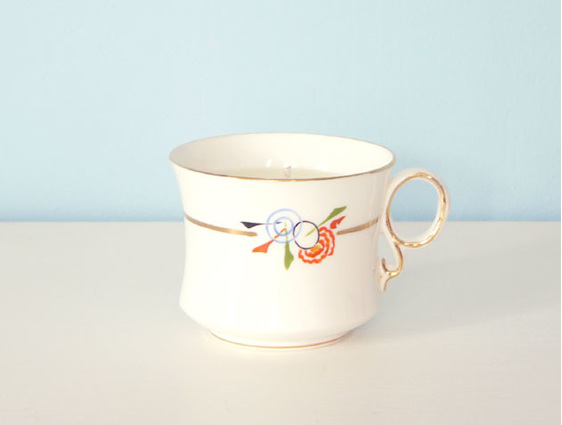 Mandarin & Mimosa scented soy teacup candle