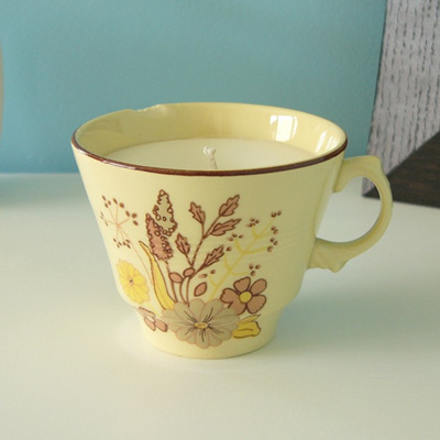 Mandarin & Mimosa scented teacup candle