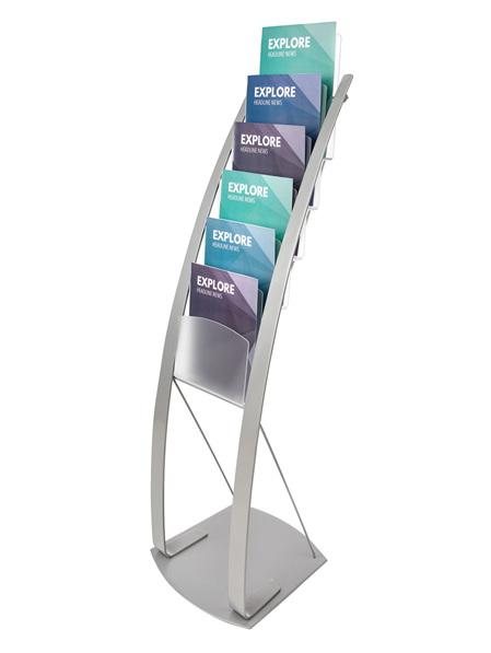 Manhattan Magazine Display Stand, Stylish and Elegant Curved Pole Design 693145
