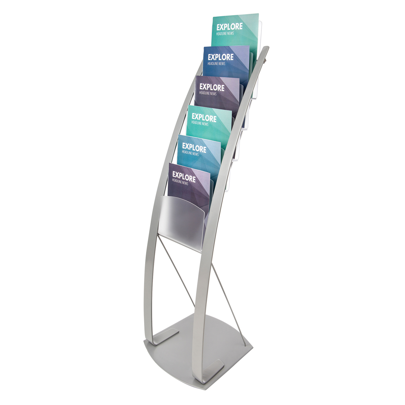 Exhibition Display Stands Nz : Free standing brochure holder magazine stand wellington nz