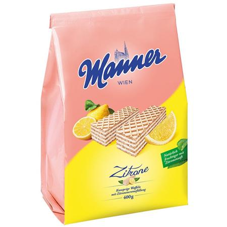 Manner Lemon Wafers Bag 400g