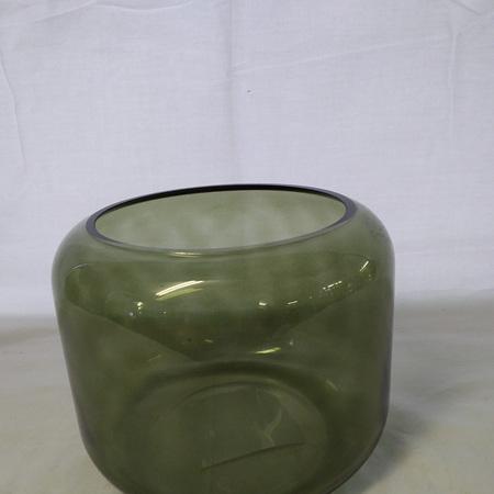 Mantua Khaki Glass Vase small  G3747
