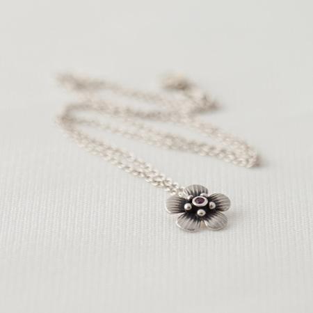 Manuka Charm Necklace - Ruby