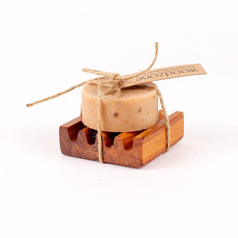Manuka Honey and Milk Soap on Small Dish