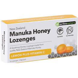 MANUKA HONEY LEMON + VIT C 16 LOZENGES