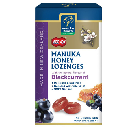 MANUKA HONEY LOZENGES BLACKCURRANT 65G