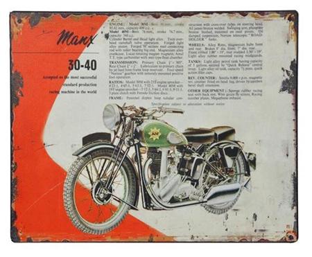 MANX Motorbike - Metal Plaque