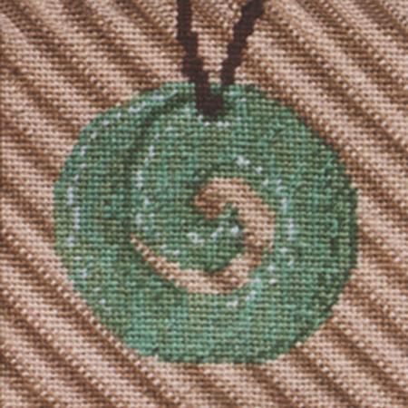 Maori Greenstone Carving Needlepoint Kit