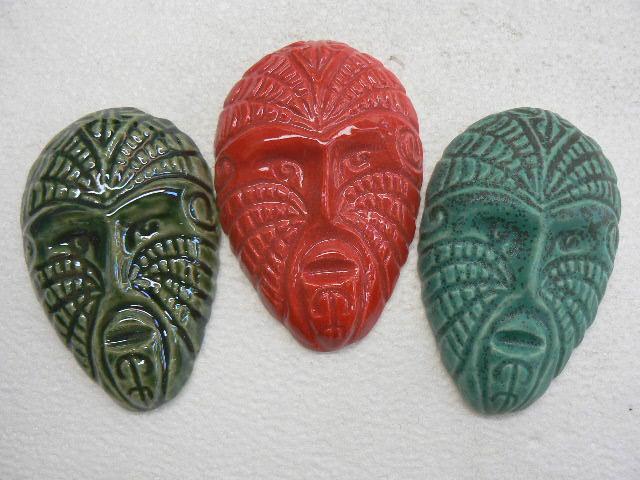 `Maori Masks, NZ made ceramic