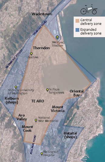 Map of NoCar Cargo delivery area