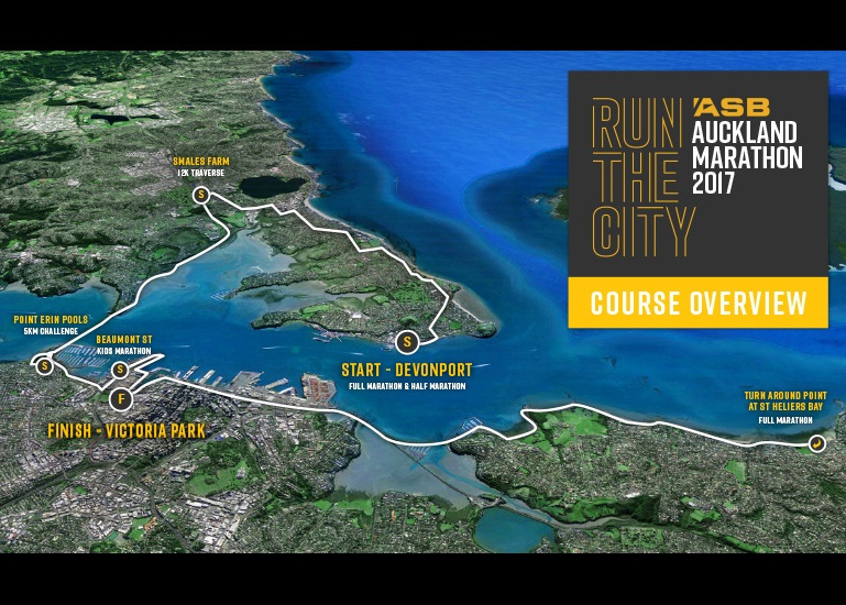 Course for ASB Auckland Marathon