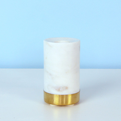 Marble & Brass Candleholder large