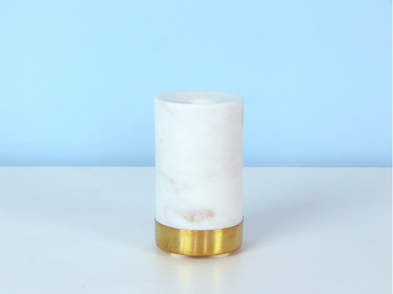 Marble and Brass candle holder