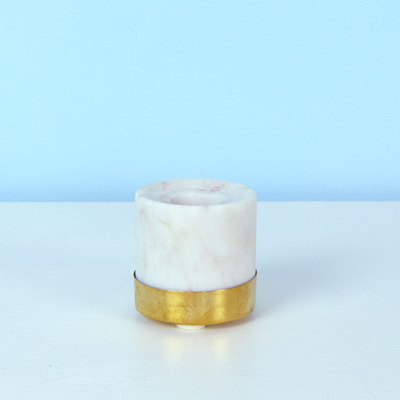 Marble & Brass Candleholder small