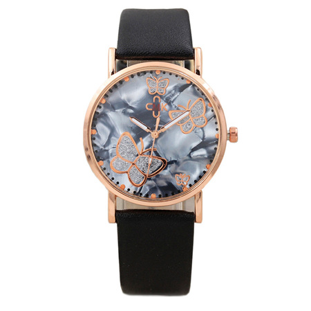 MARBLED BUTTERFLY WITH ROSE GOLD WATCH
