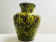 Marbled Chartreuse & Brown Fat Lava Glaze Vase by Bay Keramik