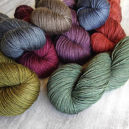 Mardi 4ply yak/silk/merino and Sinam 8ply yak/silk/merino