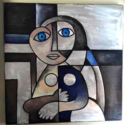 Mark Dimock Picasso's Woman Silver