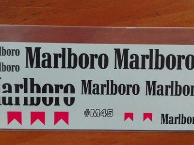 Marlboro Decals for Tamiya 1/20 McLaren MP4/5B