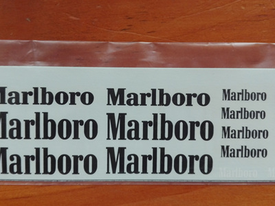 Marlboro Decals for Tamiya 1/20 McLaren MP4/7 or MP4/8