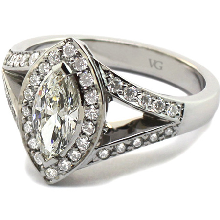 Marquise Cluster Diamond Ring