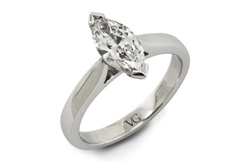 Marquise Cut Solitaire