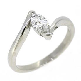 Marquise Diamond Engagement Ring, Twist Setting
