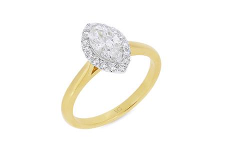 Marquise Diamond Halo Ring
