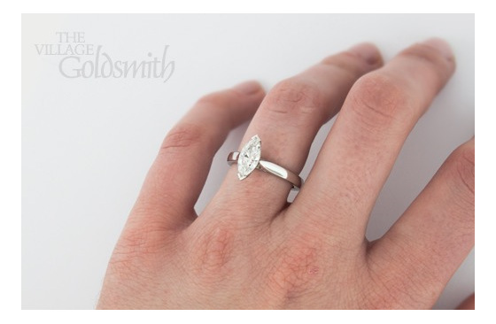 Marquise Solitaire on hand