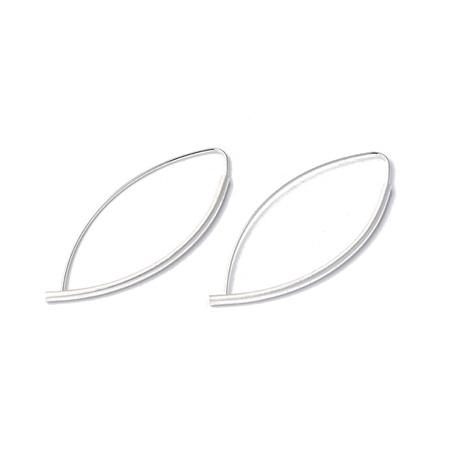 Marquise Tube Hoop Earrings
