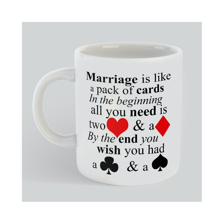 Marriage is like a Pack of Cards Mug