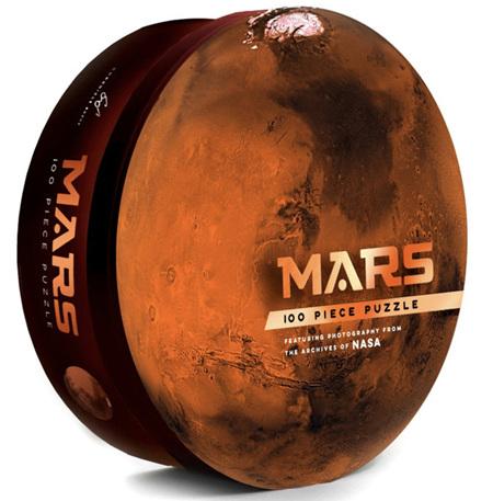 Mars: 100 Piece Round Jigsaw Puzzle