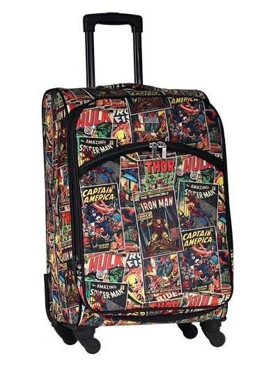 """Marvel - Avengers Comic Print 28"""" Large Softside Suitcase"""