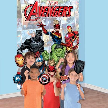 Marvel Avengers powers unite scene setter with props